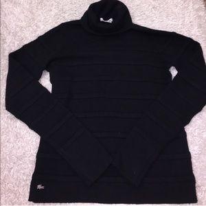 🔻Lacoste Black Turteneck Ribbed Sweater
